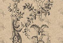 Initial Monogram Letter Antique graphics