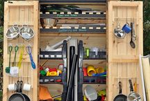 Outdoor water play and storage