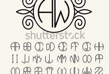 Monogram o alfabet