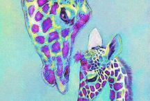 Giraffe / Paint / Art