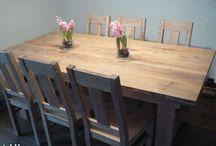 Dining sets / drewniane stoły jadalne
