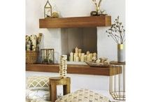 GOLD ROOMS & DECOR / Interior decorating and design: Gold home decor, furniture, accessories