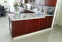 Semi Custom - Kitchen Projects / AmeriCabinets - Kitchen Cabinet project mixture.