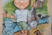Karikatury a portréty dle fotografie / veselý obrázek