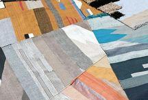CERAMICS AND WALLPAPER / ceramics wallpaper rugs bows pottery clay fabrics