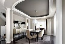 Dining coffered - waffle ceiling options / Ceiling accent