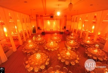 Amber Weddings / Gorgeous warm tones that light a room and make it glow. Amber, Yellow, Orange, and Red design elements for weddings and events. #Chicago All decor, lighting, and fabric produced by Art of Imagination's Deborah Weisenhaus and her team. www.artofimagination.com