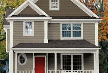Grey and Red Cottage / by Barb Palmieri