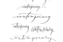 Typography Handwritten