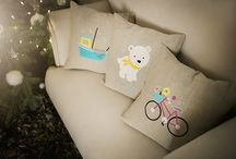 Emiko Store / Personal, colourful accessories for kids. Handmade, backpack, drawstring, pillows, applique, linen, bag.