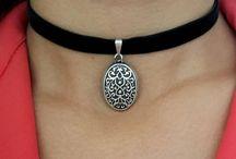 Boho Charm Choker Necklace, Tribal Choker, Charm Necklace, Wrap Necklace, Wrap Choker, Bohemian Necklace, Boho Jewelry, Bohemian Jewelry