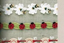 *CROCHET EDGINGS / These edgings will help you put that special personal touch on any item you wish or help finish off an item that you have worked so hard on. Happy edging!! / by Janet Marie
