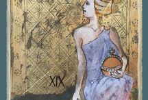 Tarot Cards from Constant Guests / Images from the book Constant Guests by Patricia Nedelea