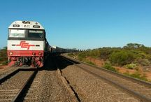 Trains in outback Australia