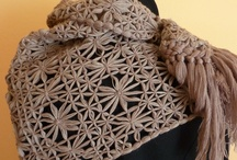 handmade scarves / € sciarpe in pura lana, fatte a mano con telaio.