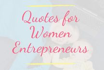 Lady Boss Quotes - Inspiration for Mom Entrepreneurs / Quotes to inspire stay at home moms working on their business dreams, entrepreneurial quotes, lady boss quotes for SAHM starting their businesses.