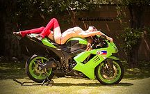 Motorcycles, green
