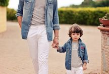 Fashion dad and son