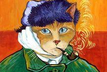 Кот в картине (игры с Искусством )