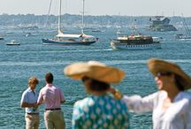 """Newport, our """"City by the Sea"""" / An insiders take on a storied way of life. Newport, Rhode Island- celebrated for stunning homes along a craggy coast, majestic trees on park-like landscapes and the tastemakers who bring a fresh twist to living, Newport style."""
