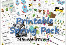 jarní aktivity pro předškoláky/spring printables for preschooler