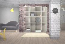 Living Room Design Ideas / Modern Industrial Yellow and Grey Living Room