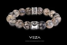 Veza Luxury Bracelets: The Dragon Vein Agate Bead Bracelet