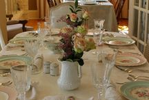 B&B Table Scapes / Some of the beautiful table scapes found at lovely bed and breakfasts.