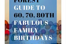 60th, 70th, 80th family birthday ideas / Big birthdays for busy families in the New Forest - 2 hours from London by the sea in Lymington and Beauileu.