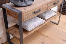 iron/wood furniture