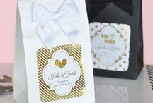 Metallic Silver and Gold Wedding Favors