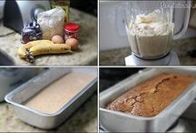 bolo de banana sem farinha e sem açúcar