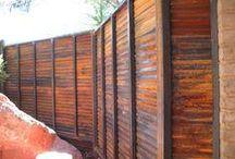Rust sheet metal fence