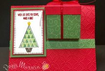 "Stampin' Up Quilted Christmas Suite / These are cards and projects I've created using ""Quilted Christmas"" by Stampin' Up!. Full supply lists can be found on my blog www.stampwithpeggy.com come check it out."