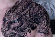 Dragon over shoulder