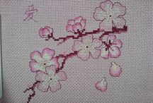 cross stitch cherry blossom / Cross stitch