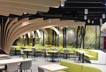 trompe-l'oeil Food Court Balexert Genève / trompe-l'oeil Food Court Balexert Genève Réalisation trompe-l'oeil de 75m2