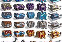 treasure box / ゲームの宝箱のアート