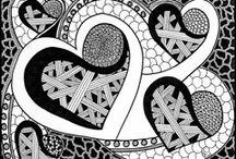 zentangle hearts / by christina