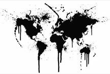 Modische Weltkarten