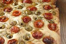 pizza, focaccia, tartaletas,