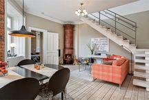 Mieszkanie dwupoziomowe - aranżacja, wnętrza