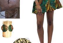 Afrikrea's looks / L'équipe Afrikrea vous propose des idées pour jouer avec les styles et les couleurs selon vos envies. Alors, n'hésitez plus !