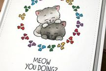Card making & Paper Craft Ideas for Cat Cards / Fun and whimsically cute images to color and play with - all with Cats! Join the Gerda Steiner Designs Community at gsd-stamps.com.