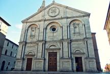 Pienza / Malé město na jihu Toskánska v Itálii