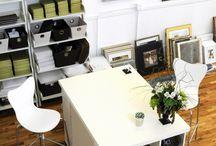green & white office modern meetsechanted forest