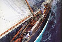 Classic sailing boats