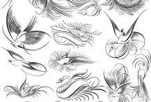 paper & stencil / by Lori Gladden