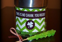 sham·rock / sham·rock:any of several trifoliate plants, as the wood sorrel, Oxalis acetosella,  or a small, pink-flowered clover, Trifolium repens minus,  but especially Trifolium procumbens,  a small, yellow-flowered clover: the national emblem of Ireland. 
