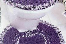 Crochet  Bathroom set / Virka badrums set och annat